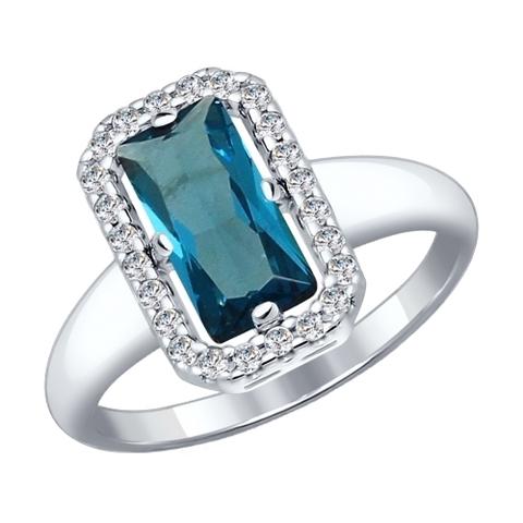 Серебряное кольцо с Лондон Ситалл