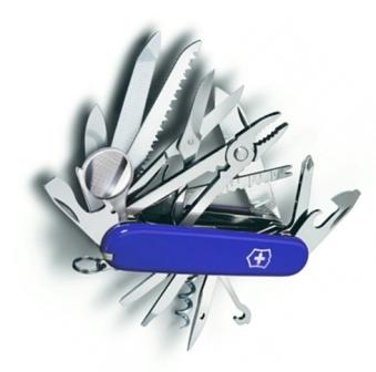Складной многофункциональный нож Victorinox SwissChamp (1.6795.2R) 91 мм., 33 функции, цвет синий
