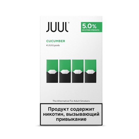Картриджи JUUL Огурец 5% 4 шт