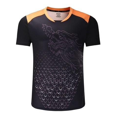 Теннисная футболка Dragon Black (Men)