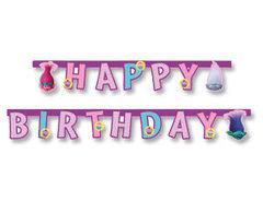 """Гирлянда Happy Birthday """"Тролли"""""""