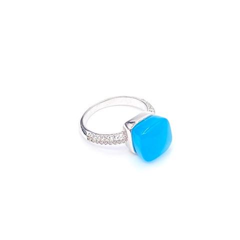 33354 -Кольцо из серебра Caramel