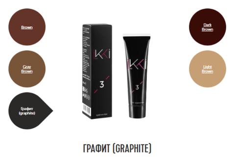 Гель-краска для бровей IKKI в тубе (№3 графит) 15мл