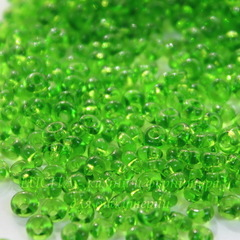 50430 Бисер Preciosa Дропс (Drops) 8/0 светло-зеленый прозрачный
