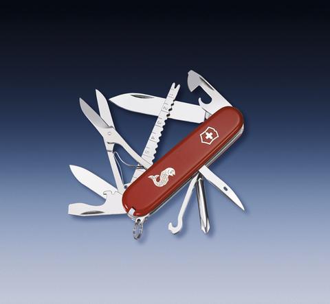 Нож Victorinox Fisherman, 91 мм, 18 функций, красный123