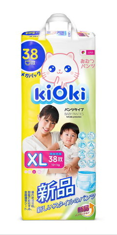 kiOki Детские подгузники-трусики XL (12-16 кг) 38 шт