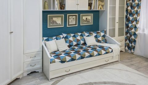 Кровать нижняя с дополнительным спальным местом «Классика»
