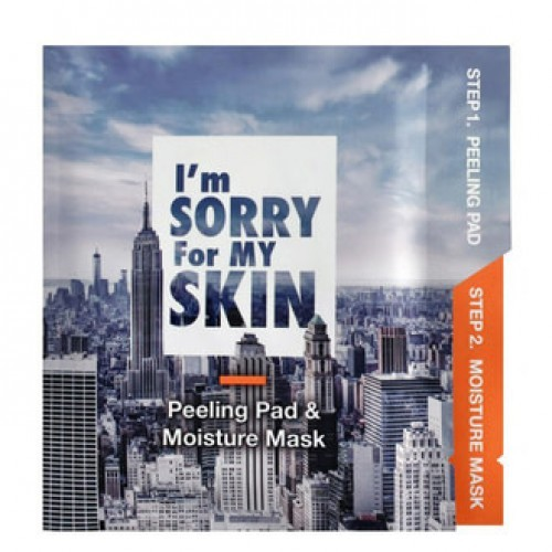 Маска + пилинг I'm sorry for my skin Peeling pad + Moisture mask