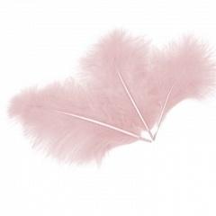 Перья Розовые, 13-15 см 30 шт