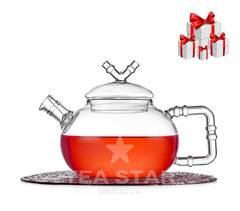 Чайник заварочный с подарками 4 чашки и 100 гр чая