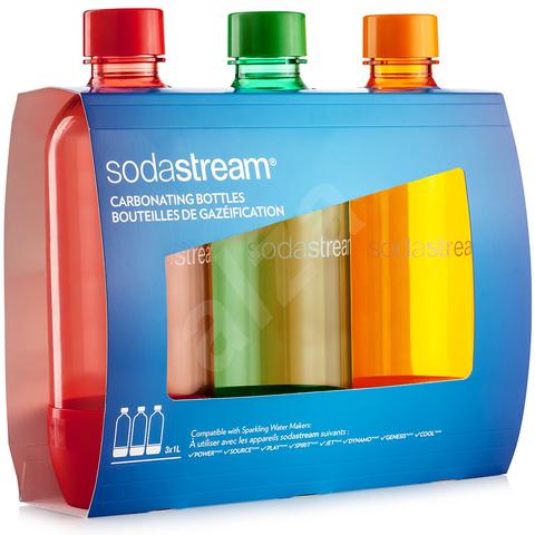 Набор бутылок по 1Л Orange / Red / Green