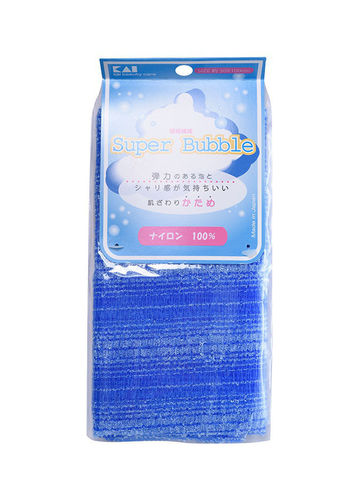 Мочалка для тела массажная жесткая синяя Kai Super Bubble