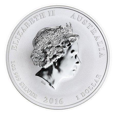 1 доллар. Год Обезьяны. Австралия. 2016 год