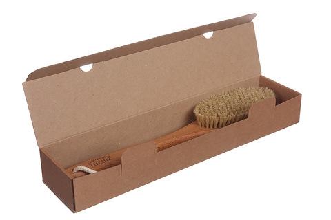 YOZHIK Щётка для сухого массажа (класс L, натуральная щетина)_коробка
