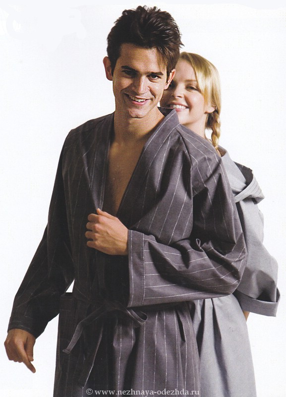 Легкий халат без капюшона Spaziale Splendy