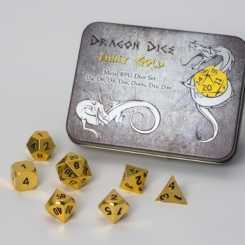 Blackfire Dice - Metal Dice Set - Gold