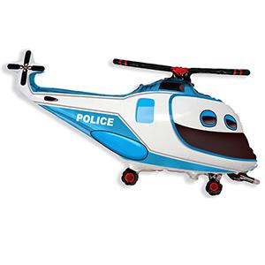 Фольгированный шар Полицейский вертолет 57см X 96см