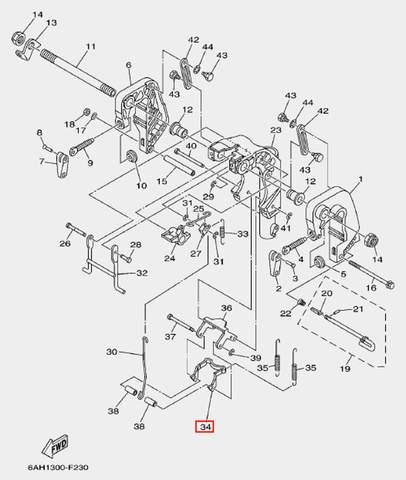 Пластина замка для лодочного мотора F20 Sea-PRO (19-34)