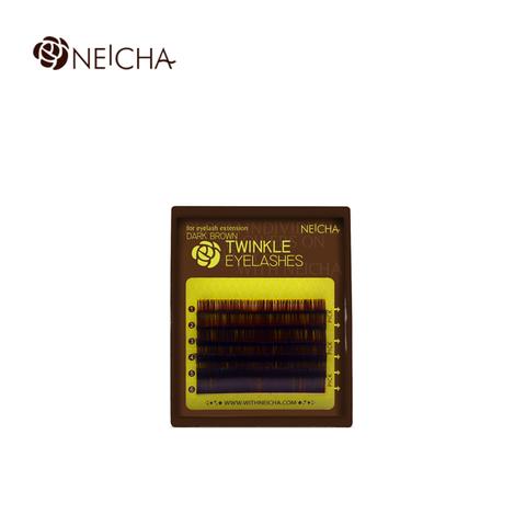 Ресницы NEICHA нейша 6 линий ИЗГИБ В темно-коричневые (отдельные длины)