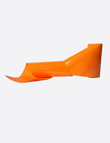 Фольга матовая оранжевый 1м х 5см 161