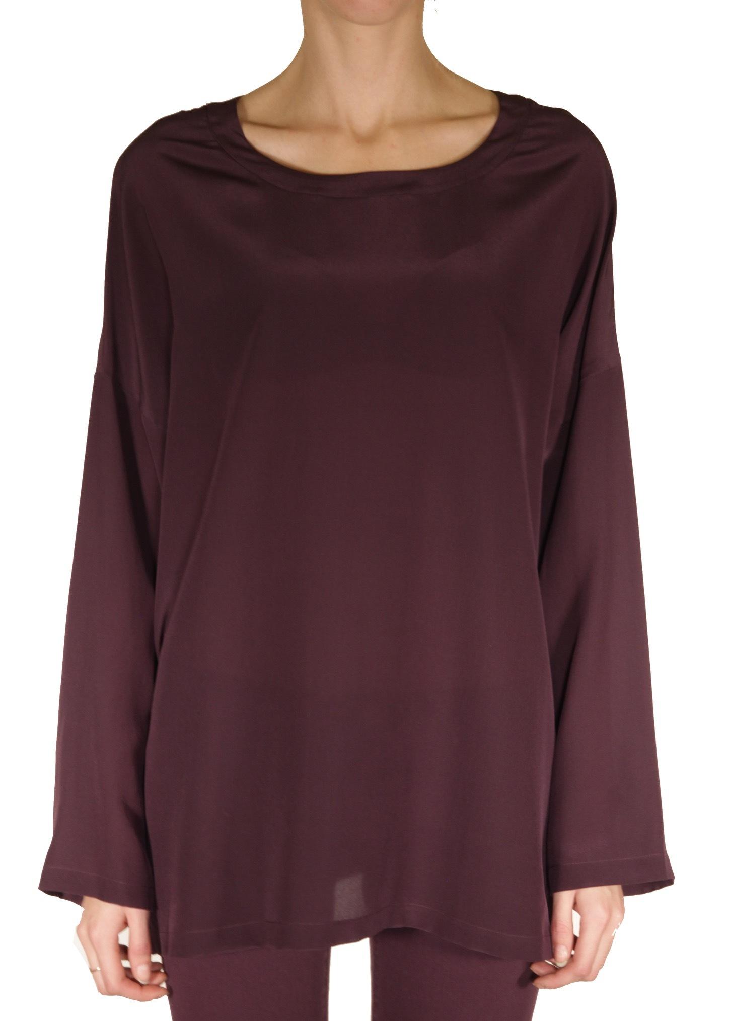 Блуза из шелка. Цвет антрацит/фиолетовый M MISSONI