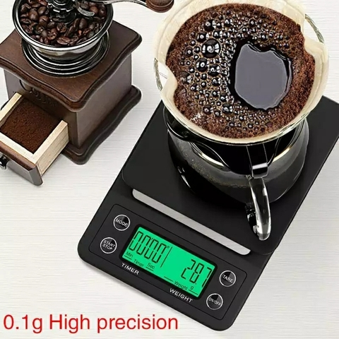 Весы для кофе с таймером, точность 0,1 гр., максимальный вес 3000 гр.