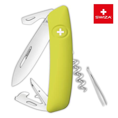 Швейцарский нож SWIZA D03 Standard, 95 мм, 11 функций, салатовый