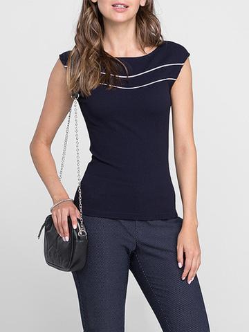 GKT005587 блузка женская, темно-синяя