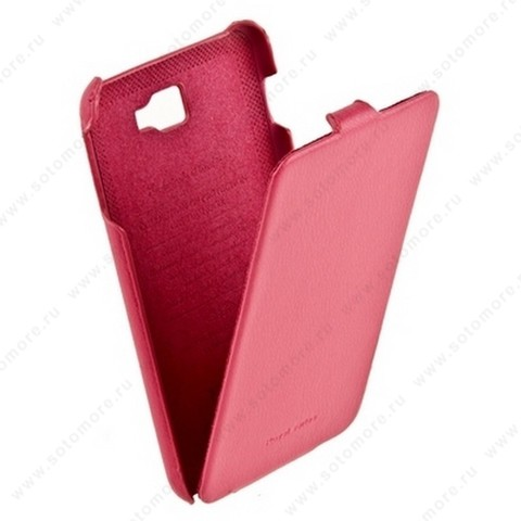Чехол-флип HOCO для Samsung Galaxy Note N7000 - HOCO Leather Case Pink