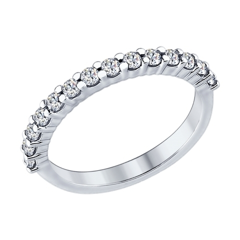 94012183 - Кольцо дорожка из серебра с фианитами