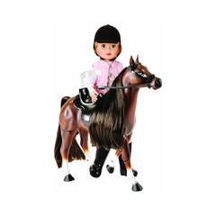 ZAPF Наездница с лошадью, 34 см (876-633)