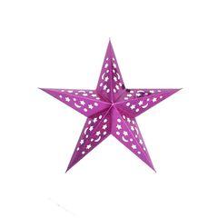 Звезда бумажная 45 см голографическая сливовая