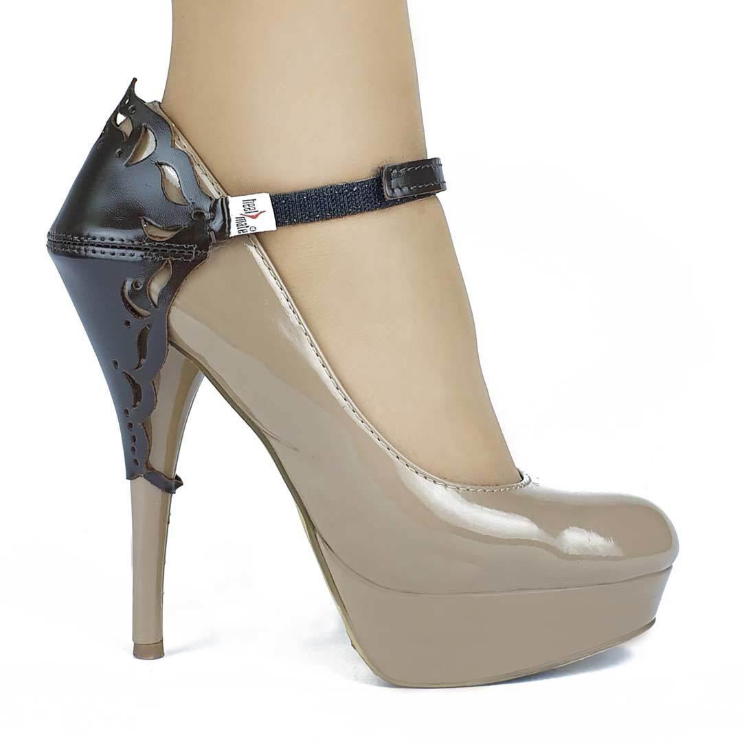Автопятка для женской обуви на каблуке коричневая с узорами