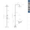 Душевая система со смесителем KUATRO 4758RK250 - фото №2