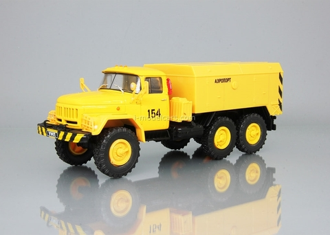 ZIL-131 UMP-350 Airport yellow 1:43 DeAgostini Auto Legends USSR Trucks #18