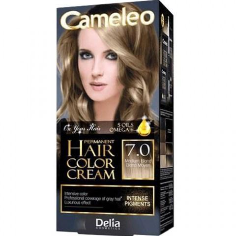 Delia Cosmetics Cameleo Крем-краска для волос тон 7.0 средний блондин