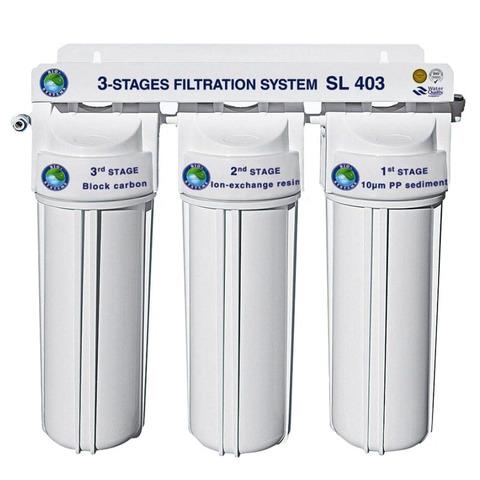 Система 3-х ступенчатой очистки воды