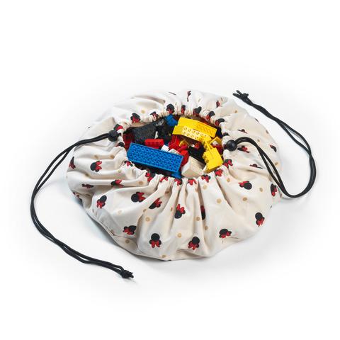 Мини-мешок Disney Mini Minnie (40 см) для хранения игрушек и игровой коврик Play&Go