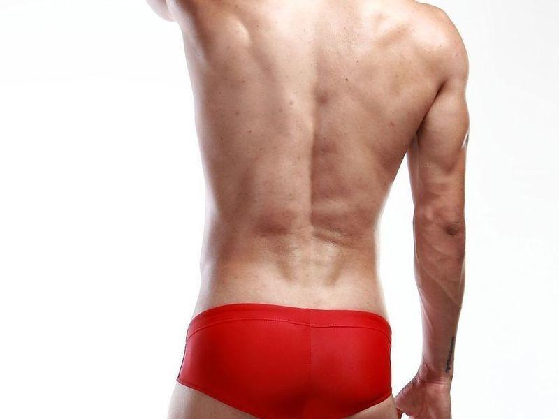 Мужские плавки брифы красные Seobean Red Athletic Brief Boxer