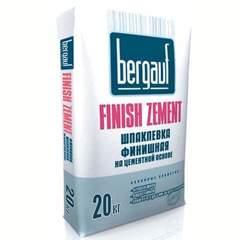 Шпаклёвка Bergauf Fifnsh Zement цементная финишная, 20 кг
