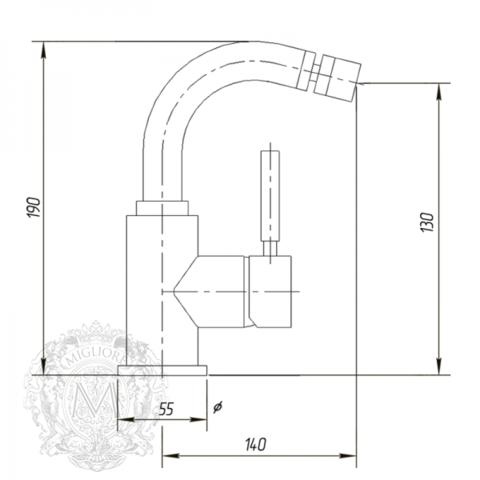 Смеситель для биде  Migliore Fortis ML.FRT-5223 схема