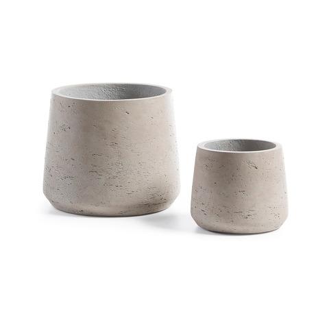 Набор кашпо Lux серого цвета