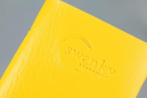 Кейс для пластин Swanky Stamping, на 20 пластин, желтый