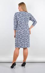 Луиза. Стильное платье больших размеров. Цветы.