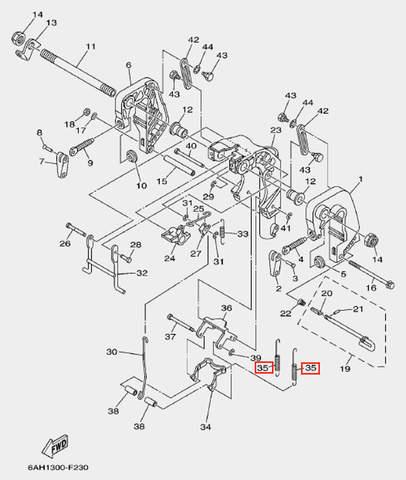 Пружина пластины для лодочного мотора F20 Sea-PRO (19-35)