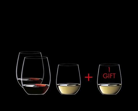 Набор из 4-х бокалов для вина Viognier/Chardonnay 320 мл + Cabernet/Merlot 600 мл Pay 3 Get 4 артикул 7414/50. Серия O Wine Tumbler
