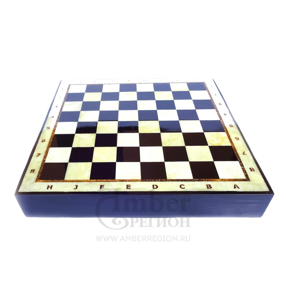 Янтарная шахматная доска-коробка 35*35 см (дуб) 3 шт.