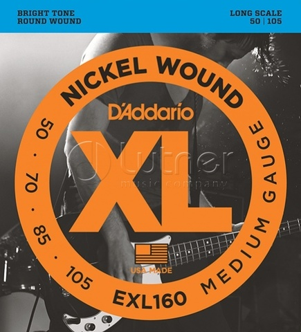 D`Addario EXL160 XL NICKEL WOUND Струны для бас-гитары