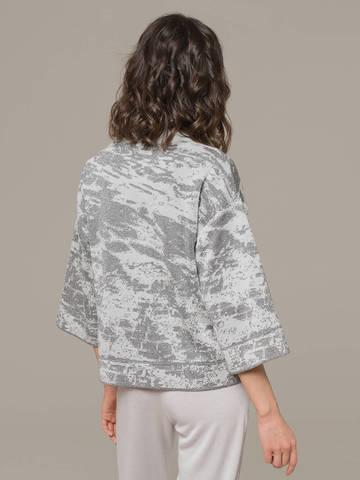 Женский жакет серого цвета на молнии - фото 3