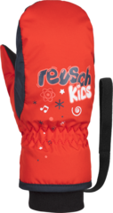 Варежки детские Reusch Kids Mitten 325 fire red/dress blue/white